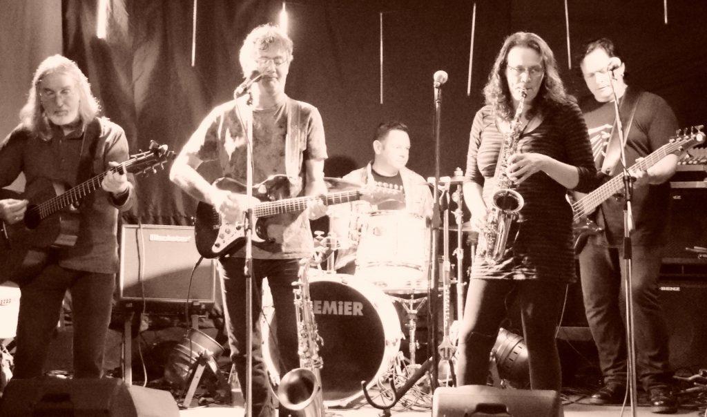 Folk rock band Rack and Ruin play live - photo by John B Smith